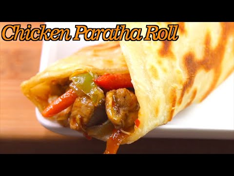 Chicken And Veg Paratha Roll Recipe