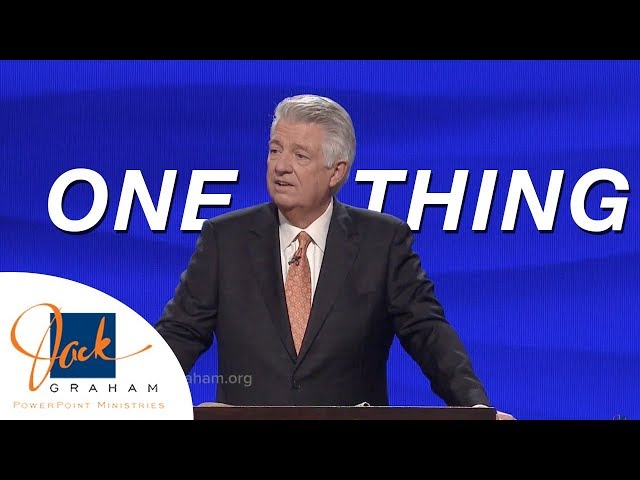 One Thing | PowerPoint with Dr. Jack Graham