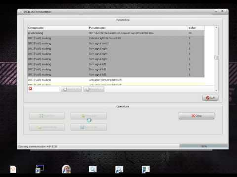BCM PQ25 Parameters editor built-in VCP