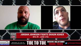 RFA 39's Jordan Johnson: 'Shaun Asher doesnt' have the skill-set to beat me'
