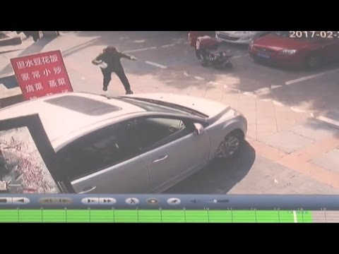Driver presses accelerator by mistake and reverses into restaurant