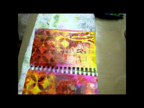 Mixed Media Art Journal Page (start to finish)