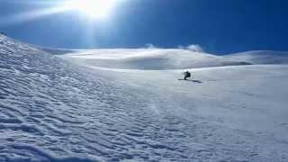 Snowkite on Psiloritis Mt. Crete Greece