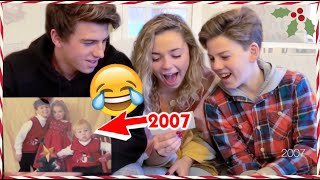 REACTING to 18 Years of Family Christmas Photos | Vlogmas 2019