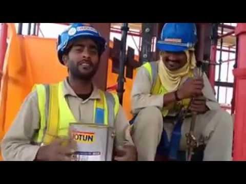 arab company worker singing good..LOVE IS BLIND..