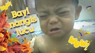 Bayi nangis lucu (bayi baper) - nangis dengar lagu you are the reason