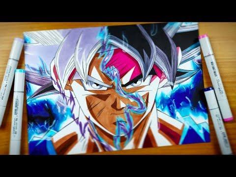 Drawing Goku Ultra Instinct & Mastered UI - Dragonball Super