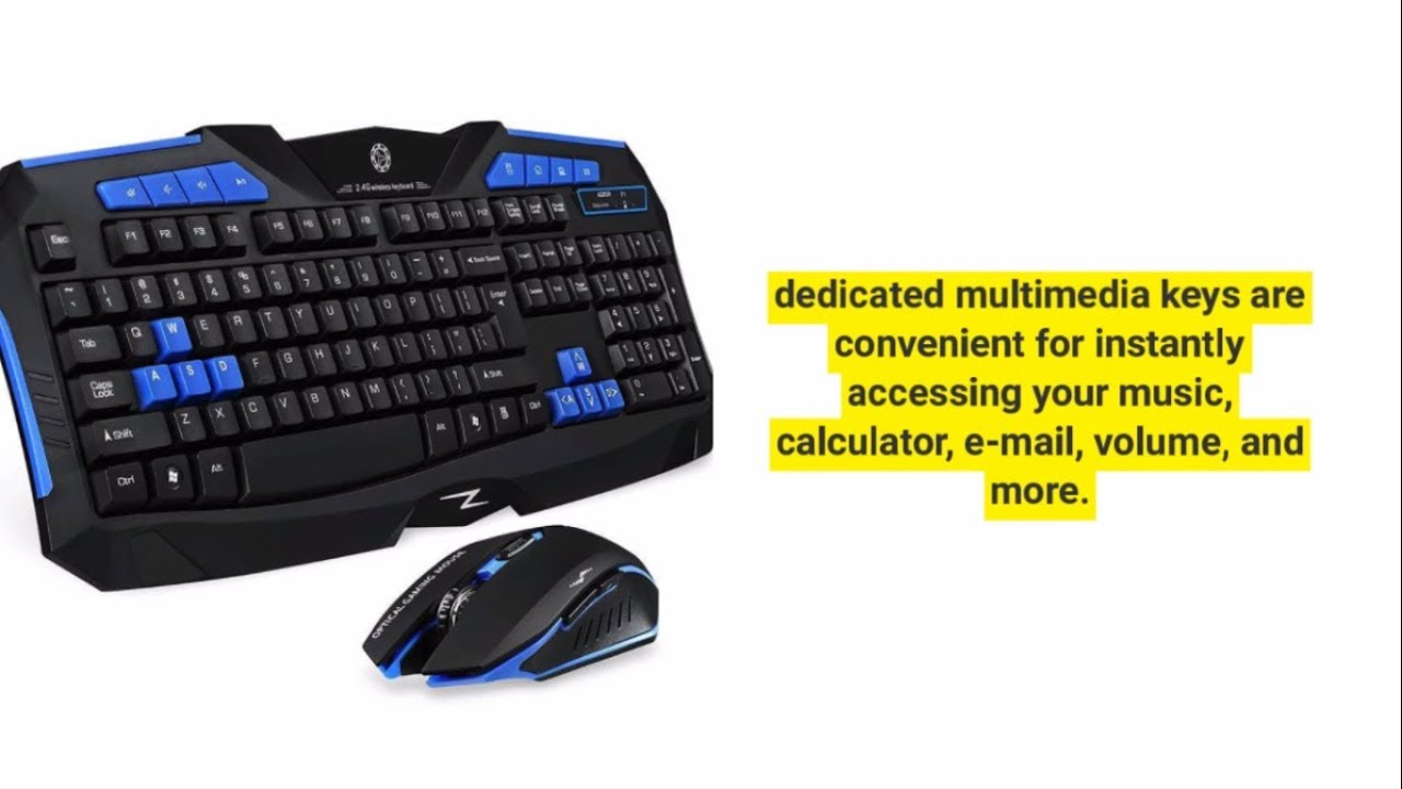 10 best gaming keyboard and mouse wireless youtube. Black Bedroom Furniture Sets. Home Design Ideas