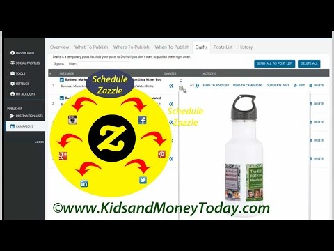 How to Use Zazzle RSS Feed to Schedule Social Media Posts (Zazzle Tips #5)