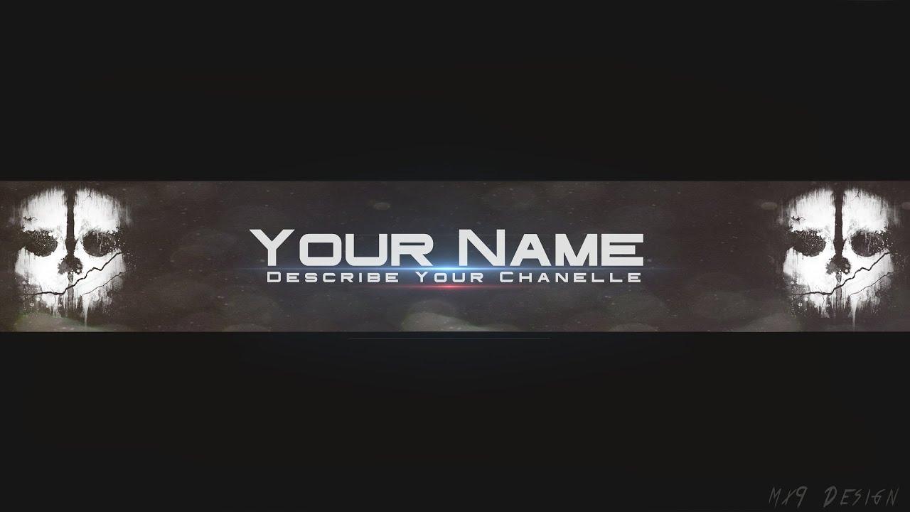 SpeedArt] FREE Ghosts Youtube Channel Banner Template Direct