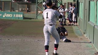 2015 仙台育英高校 佐藤世那投手(現オリックス)の投球 in 和歌山国体