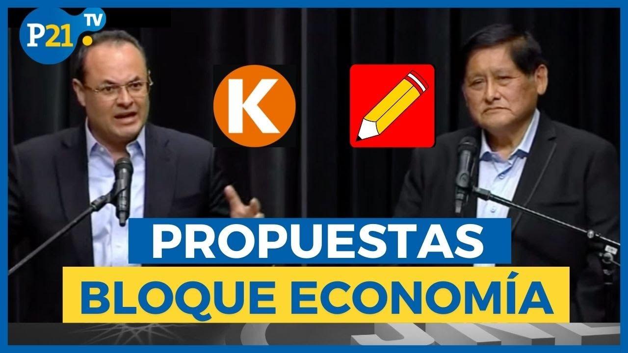 DEBATE TÉCNICO | Bloque ECONOMÍA: Luis Carranza y Juan Pari exponen ideas -  YouTube