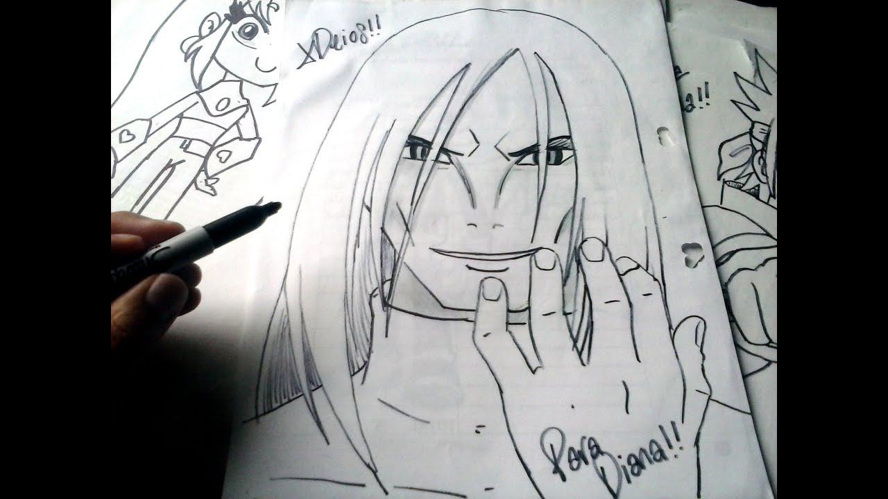 Dibujos Para Colorear De Kakashi: Naruto Mira Y Animate A Dibujar A OROCHIMARU XDEIOS PARA