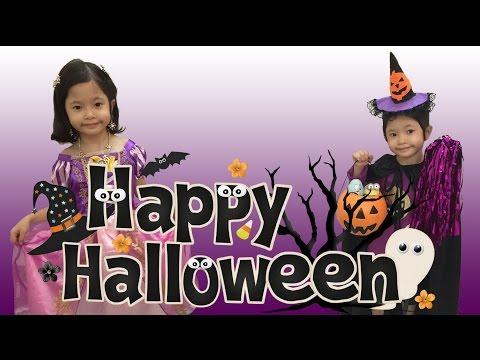 Bóc trứng socola halloween bất ngờ - Công chúa Rapunzel và phù thủy tốt bụng - AnhAnhChannel.com