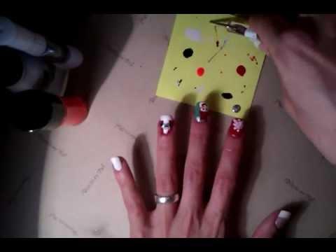 Diseños de uñas para Navidad - Manicura con motivos navideños