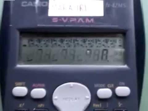 Calculator matrix effect casio