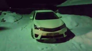 Corolla e160. Запуск двигателя в мороз.