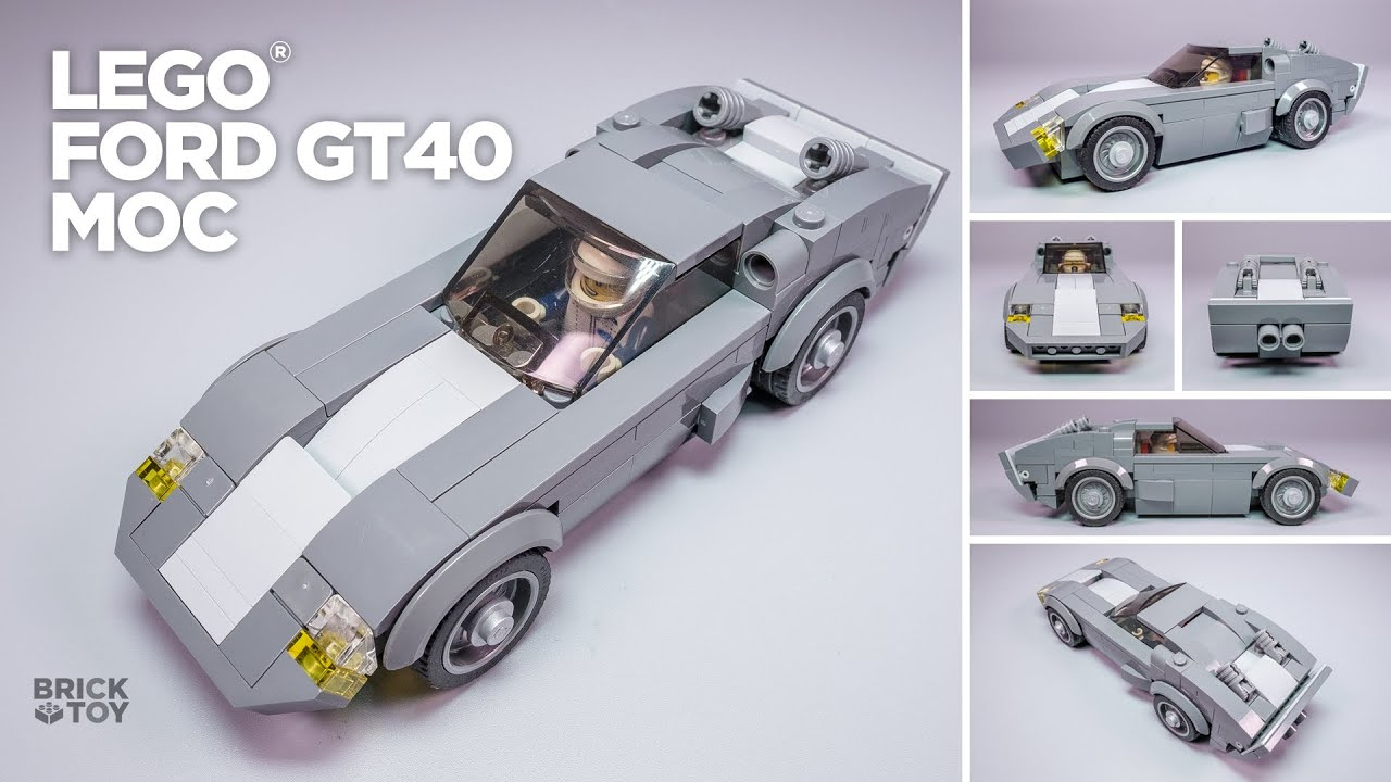 Lego Ford Gt40 Classic Moc Based On Speed Champions 75881 Youtube