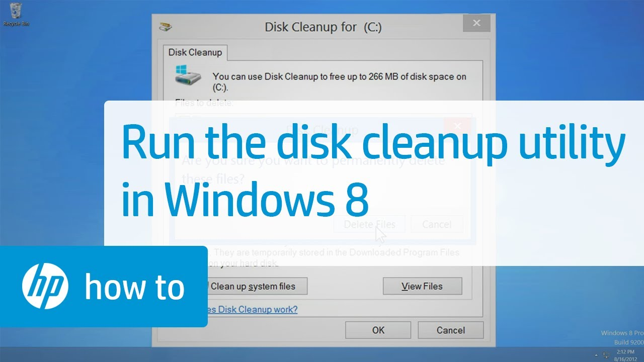 Running the Disk Cleanup Utility in Windows 8 | HP