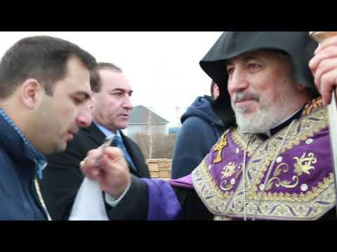 Освящение фундамента Армянской Апостольской Церкви им.Месропа Маштоца в г.Тюмень