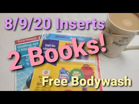 Coupon Inserts for August 9/ Free Bodywash and cheap deals you can get now!