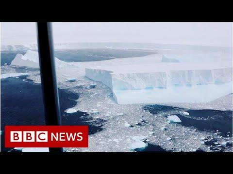 Video captures world's biggest iceberg – BBC News