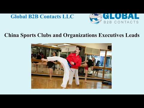 China Sports Clubs and Organizations Executives Leads