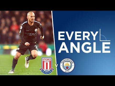 MAGIC MERLIN!   Every Angle   David Silva vs Stoke