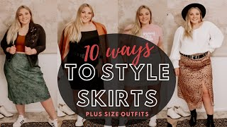 Plus Size Skirt Outfits | 10 Ways to Style 6 Different Skirts
