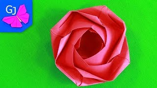 Оригами Роза из бумаги