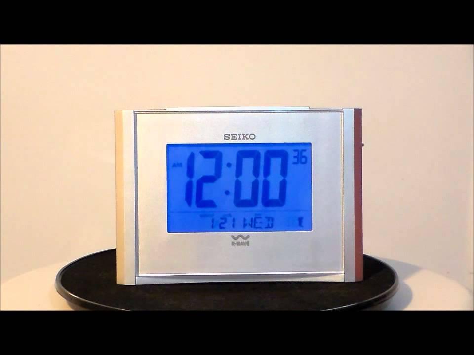 Seiko Qhr015slh R Wave Atomic Bedside Alarm Clock