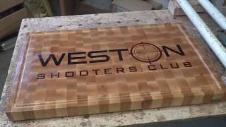 Weston shooters club end grain cutting board
