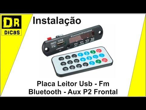 USB Bluetooth Receiver - Fm - Pen Drive - Aux P2 Frontal - Doutor Dicas