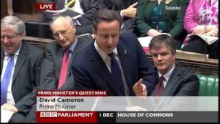 "David Cameron to Ed Miliband: ""Child of Thatcher or son of Brown?"" (PMQ, 1.12.10)"