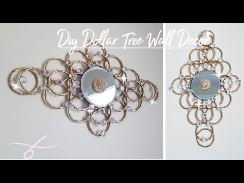 Diy Dollar Tree Mirror Wall Decor - Simple & Quick - Wall Sconce - Home Decor - Gold - Glam - Unique