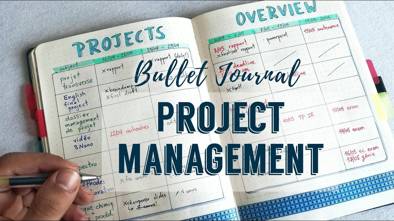 Bullet Journal Project Management | The Boosted Journal