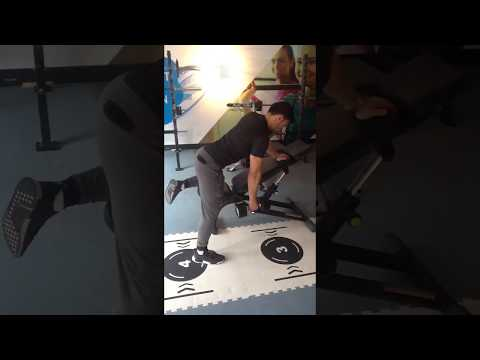 Incline 30 degree one arm dumbbell row