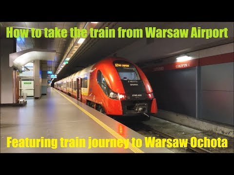 How to get to town from Warsaw Airport by train - featuring Line S2 and Pesa Elf 27WE
