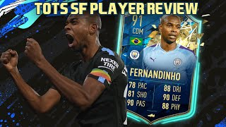 BETTER THAN KANTE? 91 TOTSSF FERNANDINHO PLAYER REVIEW! FIFA 20 Ultimate Team