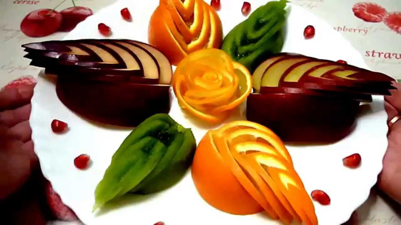 как сделать розы из апельсина для торта
