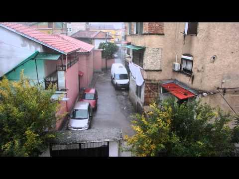 winter rains, Tirana. Albania
