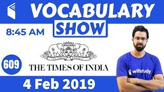8:45 AM - The Times of India Vocabulary with Tricks (4 Feb, 2019) | Day #609 screenshot 5