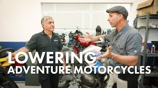 DO NOT LOWER Your Adventure Motorcycle - (PROBABLY)  First Check the Sag and Spring