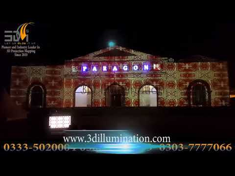 Building Projection Mapping in Pakistan lights and Sound Show Wedding Event