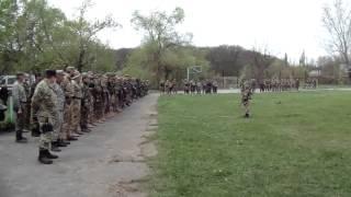 Ярош приехал к заблокированным бойцам на базе 5-го ОБ ДУК-ПС. 29.04.2015(База 40-го батальона