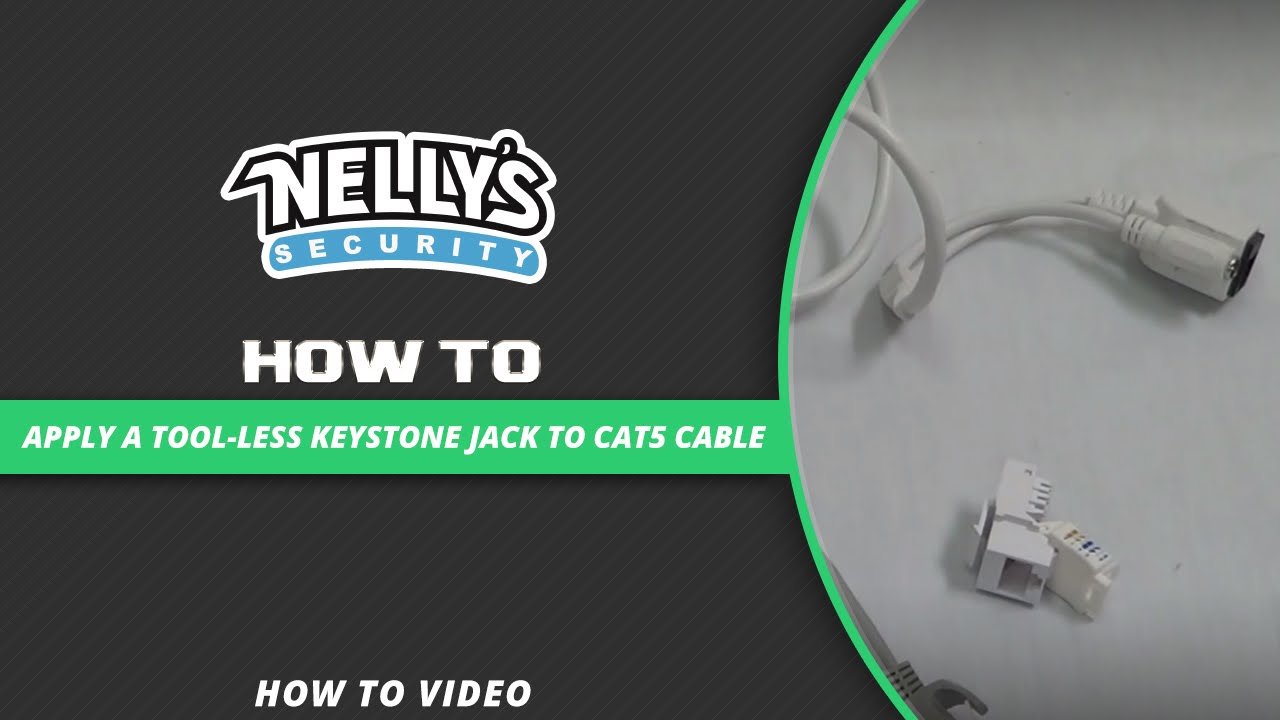 How To Apply A Tool Less Keystone Jack Cat5 Cable Youtube Make