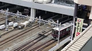 20180806 081624 新阪急ホテルアネックスより阪急梅田駅の朝のラッシュ