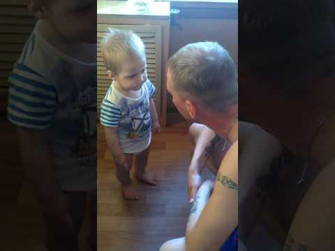 видео: Серьезный разговор папы с годовалым сыном!!!