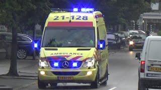 A1 ambulance 21-128 Haps met spoed in Oss!