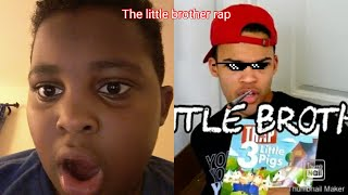 Reacting to The little brother rap by:Kyle exum